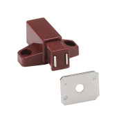 Amerock Magnetic Touch Latch 1.9cm H X 2.5cm - 1.6cm W X 2.5cm - 1.4cm L Brown Finish Card 2
