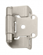 Amerock Hinge 1.3cm Partial Wrap Self-Closing Satin Nickel Finish Card 2