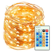 LED String Lights 20m 200 LEDs TaoTronics Dimmable Festival Decorative Lights for Seasonal Holiday, Complete Waterproof, UL Listed