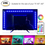 Led Strip Lights 2m for 100cm - 150cm TV,Pangton Villa USB LED TV Backlight Kit with Remote - 16 Colour 5050 Leds Bias Lighting for HDTV
