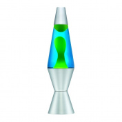 Yellow & Blue Lava Lamp - 29cm Tall