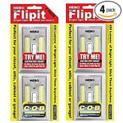 2 Pack Nebo Flipit Mount Anywhere Lights, 4 Total lights