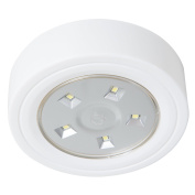 Lavish Home 82-YS006 5 Led Portable Puck & Ceiling Light with Remote Control