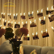 Luxanna Photo Clip String Lights 40 LED, Wedding, Party, Xmas Lights, For Decoration and Hanging Photos, Artworks, Cards, 5m, USB Powered.