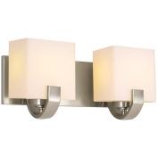 Revel Caroline 41cm 2-Light Contemporary Vanity/Bathroom Light, Brushed Nickel Finish
