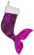 50cm Sparkly Pink Mermaid Tail Christmas Stocking
