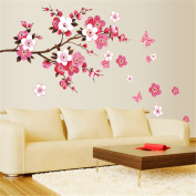 M.way Large Sakura Flower Removable Wall Sticker Paper Mural Art Decal Home Room Decor