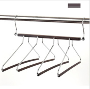 Dbtxwd Multi-layer hanger Solid wood Sturdy Durable Multifunction Closet Space Saving Pants rack 4 layer Foldable Drying Racks Trousers rack /pack of 2 , A