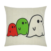 Pillow Case,SUPPION Happy Halloween Pillow Cases Linen Sofa Letter Cushion Cover Home Decor (20 kinds of patterns)