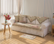 Stitching Floral Patchwork Quilted Sofa Slipcover Couch Cover Protector Jacquard 110cm x 210cm