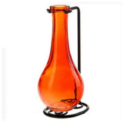 Decorative Glass Vases, Floral Bottle Vase, Bud Holder G184M Orange Coloured Bottles