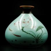 XD_D2 Small Cute Celadon Vase, Porcelain Vase, Ceramic Vase , 11cm High