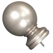 Menagerie Ball Design Finial, 5.1cm , Antique Silver