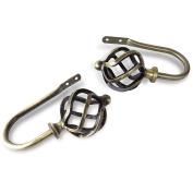 A & F Rod Decor - Spin Holdback Pair - Antique Brass