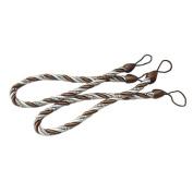 Shatex Drape Curtain rope Tiebacks Holdbacks, 70cm coffee 1pair