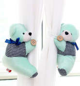 Mikey Store Cute Curtain Holdback Bear Window Curtain Tieback Buckle Clamp Hook Fastener For home decoration, Wedding room,Gift for daughter,Little girl