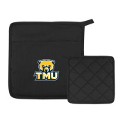 Truett McConnell Quilted Canvas Black Pot Holder 'Primary Logo'