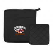 Susquehanna Quilted Canvas Black Pot Holder 'Primary Mark'
