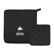 Bay Path Quilted Canvas Black Pot Holder 'Primary Mark'