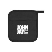 John Jay College Quilted Canvas Black Pot Holder 'Official Logo'