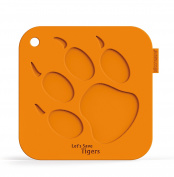 SiliconeZone My Animals Collection Non-Stick Silicone Tiger Pot Holder, Orange