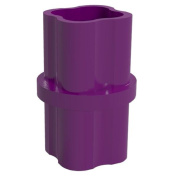 PVC Pipeworks 1.3cm Internal PVC Furniture Grade Coupling in Purple - Pipe Coupler