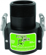 Gator Lock GLP150BNL Cam Lever Non-Locking Hose Coupling, 2.5cm - 1.3cm , Female Coupler x MNPT, 125 psi,