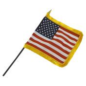 10cm x 15cm Fringed US Stick Flag