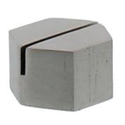 Silver Iron Place Card Holder Set |Nickel Metal Hexagon Simple