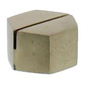 Brass Iron Place Card Holder Set | Gold Metal Hexagon Simple