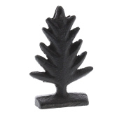 Rustic Brown Cast Iron Tree Place Card Holder Set 4 | Photo Party Stand