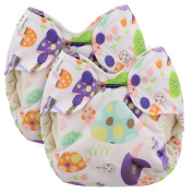 Blueberry Newborn Simplex All In One Cloth Nappies, Bundle of 2, Made in USA