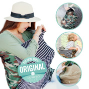 Covered Goods - The Original Multi Use Maternity Breastfeeding Nursing Cover, Infinity Scarf, and Car Seat Cover - Camo Mismatch