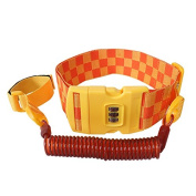 2 Metre Kid's Password Safety Link, Anti lost wrist link and Adjustable Waist Belt for Kids Toddler Active Children