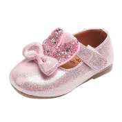 Voberry Toddler Baby Girl's Sequin Bowknot Sneaker Kids Princess Rabbit Ears Shoes