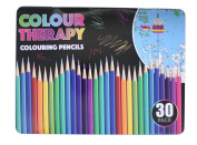 30PC ASST COLOUR THERAPY REG QUALITY PENCILS IN TIN CASE by Layton Brothers Ltd
