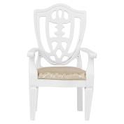 1/12 Dollhouse Furniture Miniature Wooden Chair Armchair White