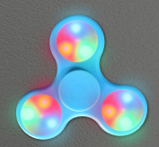 LED Feature Fidget Hand Spinner Toy,Stress Reducer with 3 Light Settings Perfect Toy - Perfect for ADD / ADHD / Anxiety / Autism And Stress Relief Adult Children