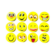 Smiley Erasers 3 Packs of 4 rubbers party bag filler, Childrens stationery