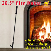 Strong Camel Campfire Fireplace Fire Poker Tool Extra Long 70cm , Black