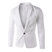 HOT ! Ninasill Mens Autumn And Winter Charm Casual Slim Fit One Button Suit Blazer Coat Jacket Tops