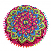 Hot Sale ! 43X43 CM Pillow Case, Ninasill Exclusive New Fashion Indian Mandala Floor Pillows Round Bohemian Cushion Pillows Cover Case Cushions