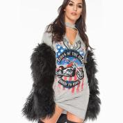 Hot Sale ! New Fashion Women Vintage Rock Style Long T-Shirt Mini Dress, Ninasill Exclusive Casual Party Holiday TShirt Dress