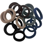 Ultimate Hair Ties J-MEE Seamless No Damage Ponytail Holders Sports Hair Bands for Thick Hair