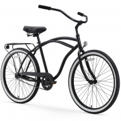 70cm sixthreezero Men's Around the Block Single Speed Beach Cruiser Bicycle, Black