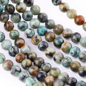 """Bingcute 8mm Natural African Turquoise Stone Beads for Necklace Gemstone Loose Beads 15.5""""One String"""