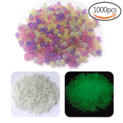 1000 Pcs UV Beads Multi Colour Changing UV Reactive Plastic Beads for Jewellery Making, Glows in the Dark