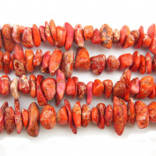 """COIRIS 15"""" Strand 9-14MM Real Natural Orange Imperial Jasper Chips Stone Loose BeadsS for Necklace Jewellery DIY Making Design"""
