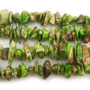 """COIRIS 15"""" Strand 9-14MM Real Natural Yellow-green Imperial Jasper Chips Stone Loose Beads for Necklace Jewellery DIY Making Design"""