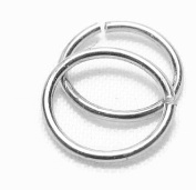 Continuous Nose Ring Set, Sterling Silver, 16g, Three (piece) set, 8mm,10mm,12mm rings piercing jewellery
